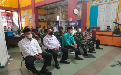 Gebyar Vaksin Covid-19 SMAN 1 Pasaman Gelar Vidcon Dengan Panglima TNI
