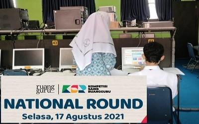 Fadhlurrahman dan Syifa Di National Round Kompetisi Sains Ruangguru 2021